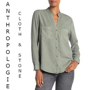ANTHRPOLOGIE Cloth & Stone Button Down Shirt
